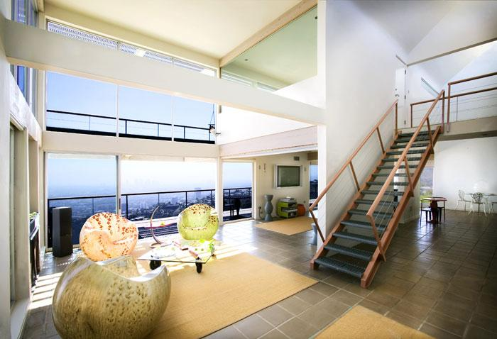 space at Architectural Hollywood Hills View Home