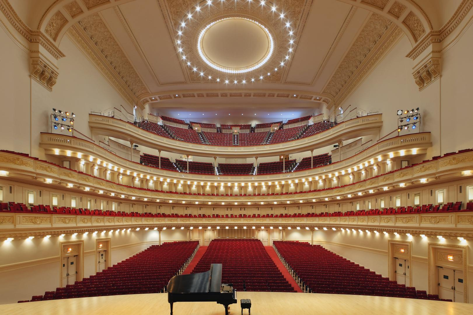 space at Carnegie Hall Performance Halls