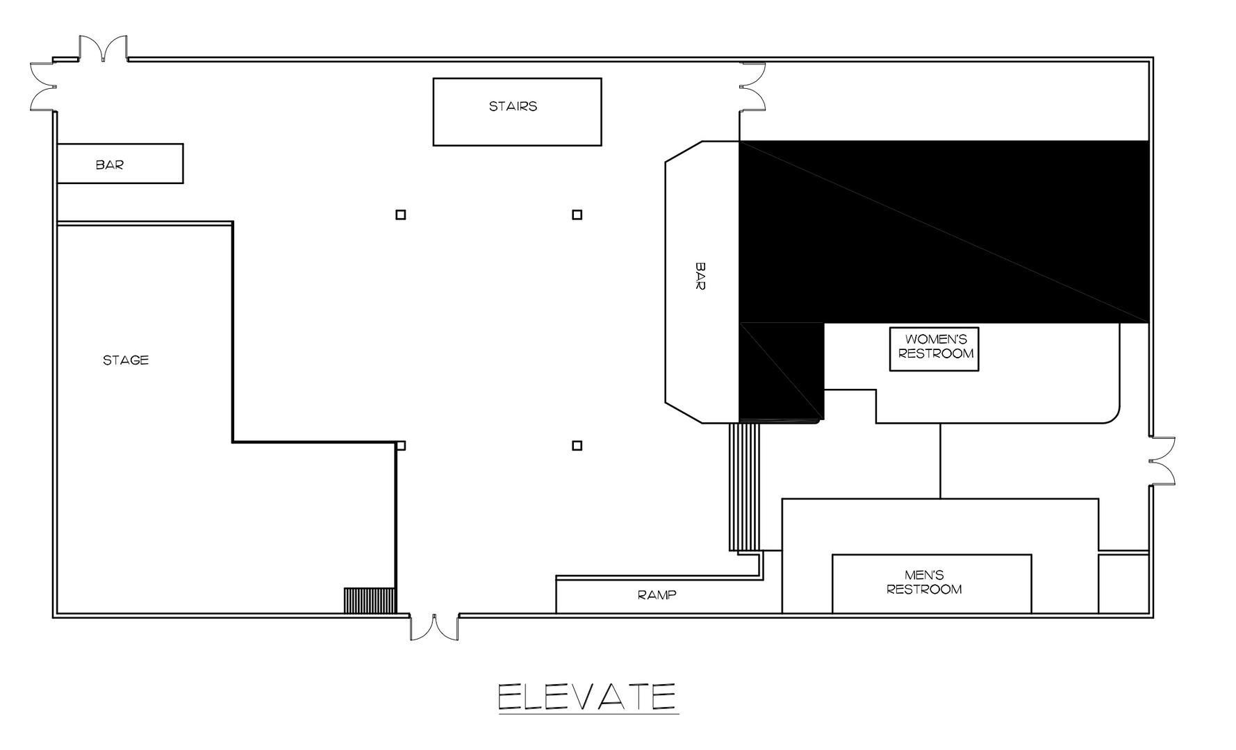 space at Elevate Event Center
