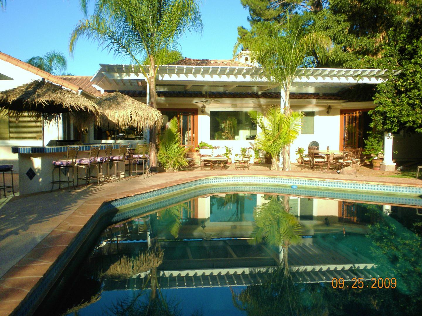 space at Tropical Garden/Pool/Home for Film/Event