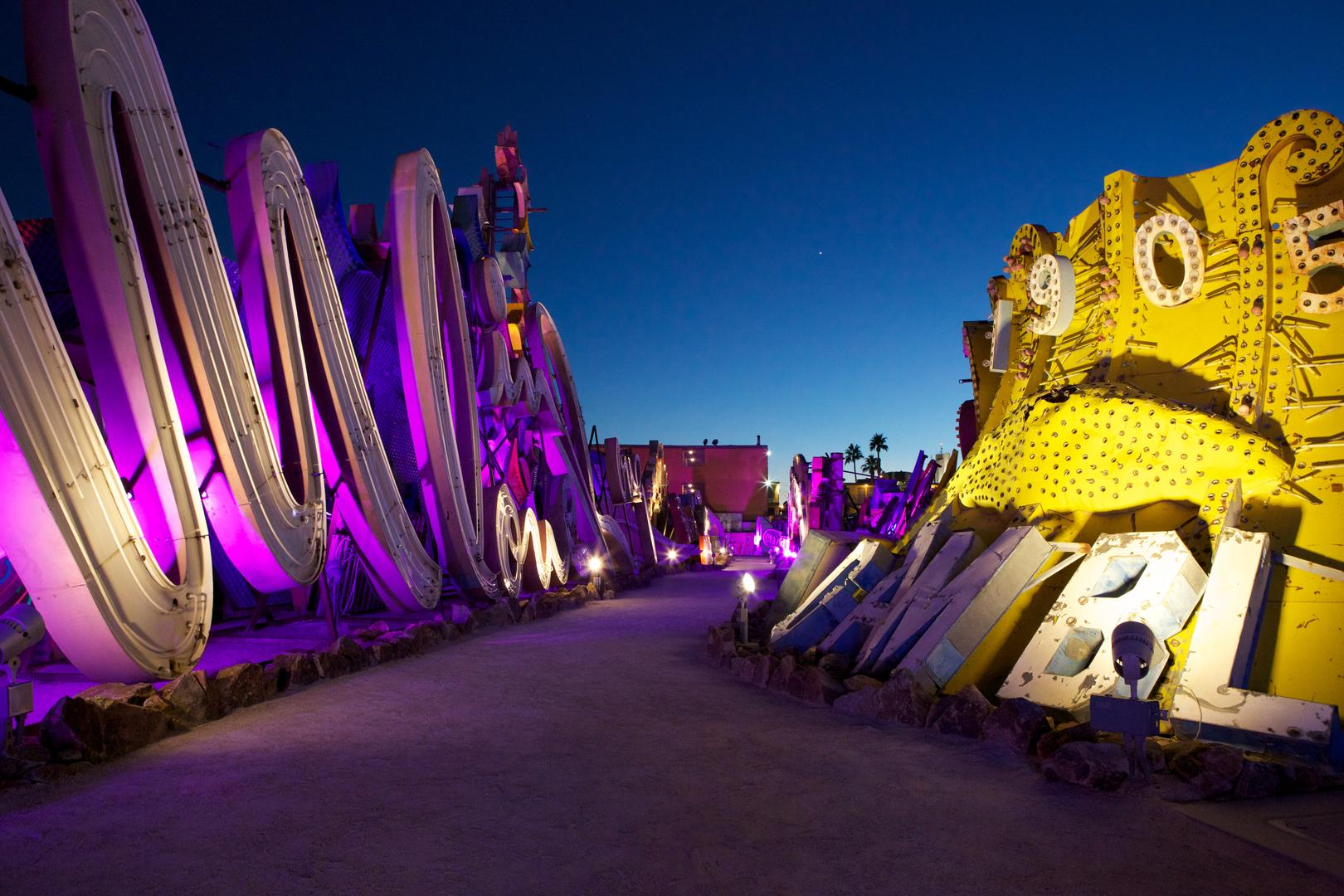 space at The Neon Museum