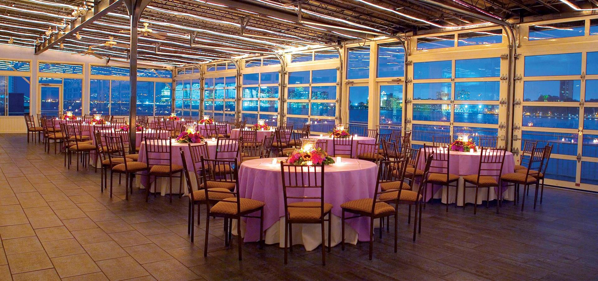 space at Sunset Terrace at Chelsea Piers